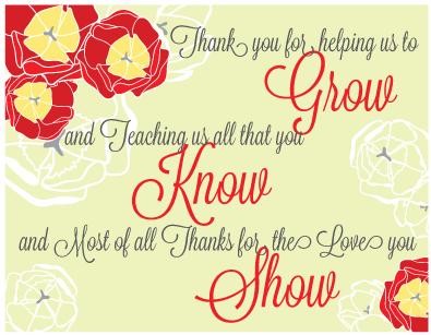 Teacher Appreciation Week Our Teachers Help Us Bloom Grow