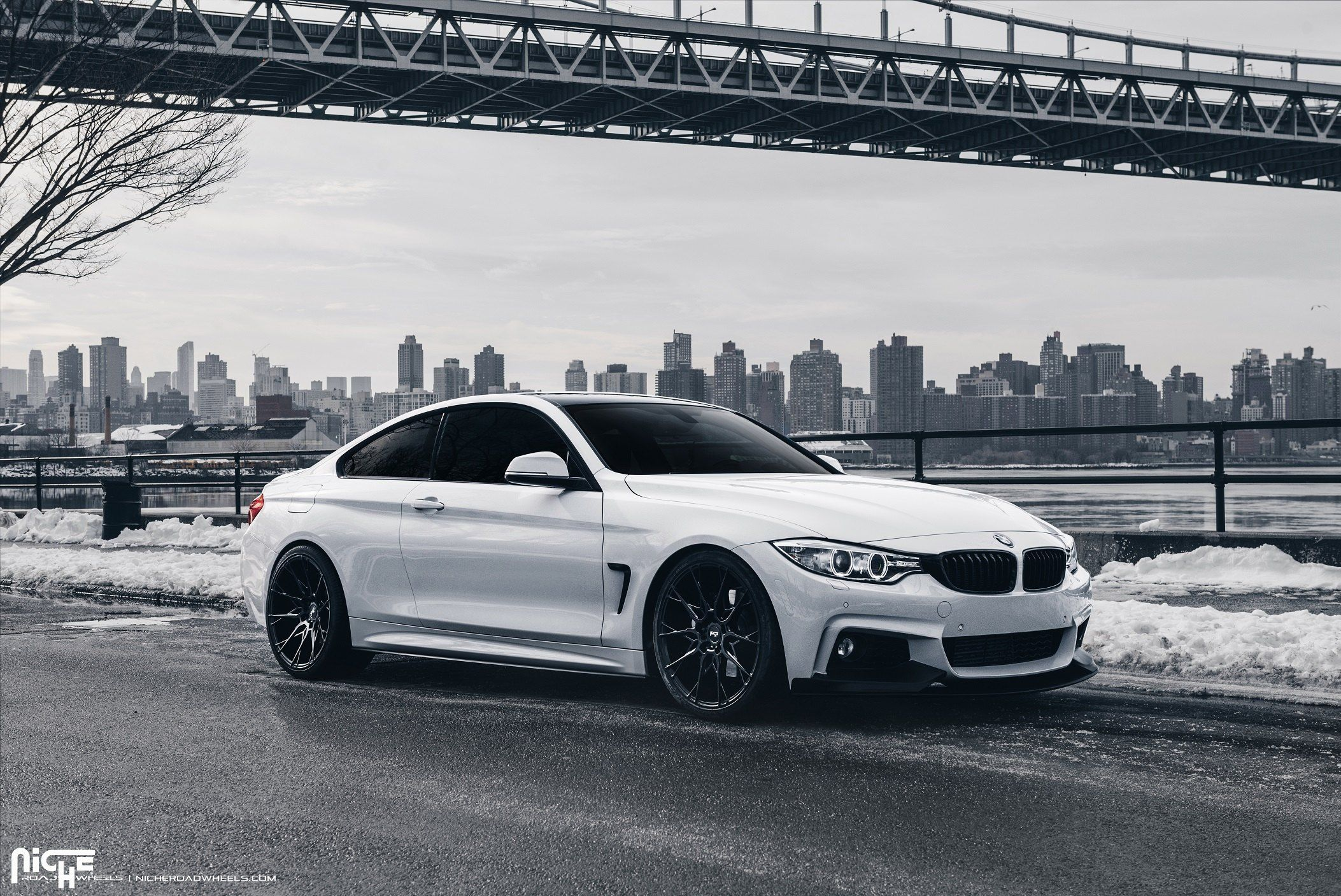 Freezing White Bmw M4 Coupe Fitted With Niche Custom Wheels With