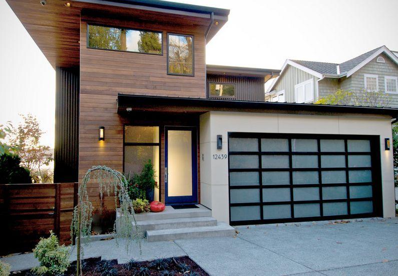 Front Door Texture modern-house-facade-texture-glass-front-door-and-garage - home