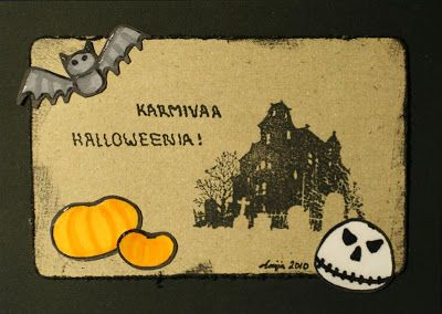 A halloween card. I have made the ornaments myself.