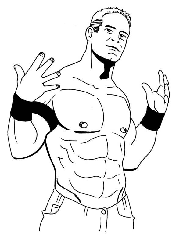 Wwe Color Pages | Adult Coloring Pages | Pinterest