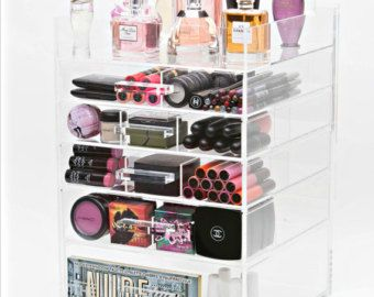 Acrylic Makeup Organizer 6 Tier Wide with by MakeupOrganizer & Acrylic Makeup Organizer 6 Tier Wide with by MakeupOrganizer ...
