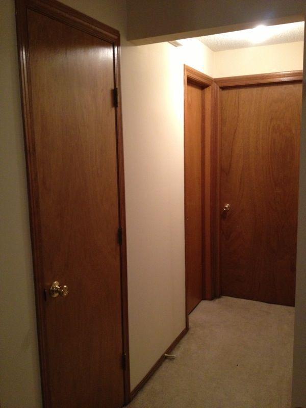 Handy In Ks Painting Oak Trim And Doors White