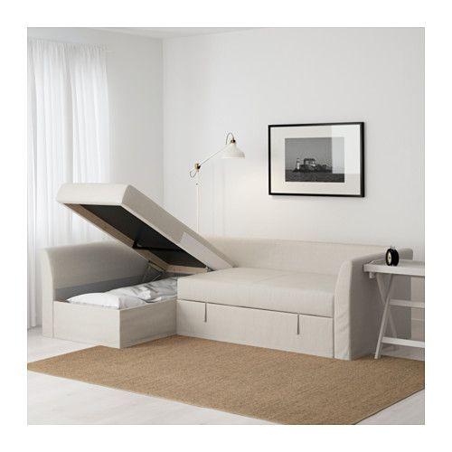 Holmsund Sleeper Sectional 3 Seat Nordvalla Beige Sofa Bed