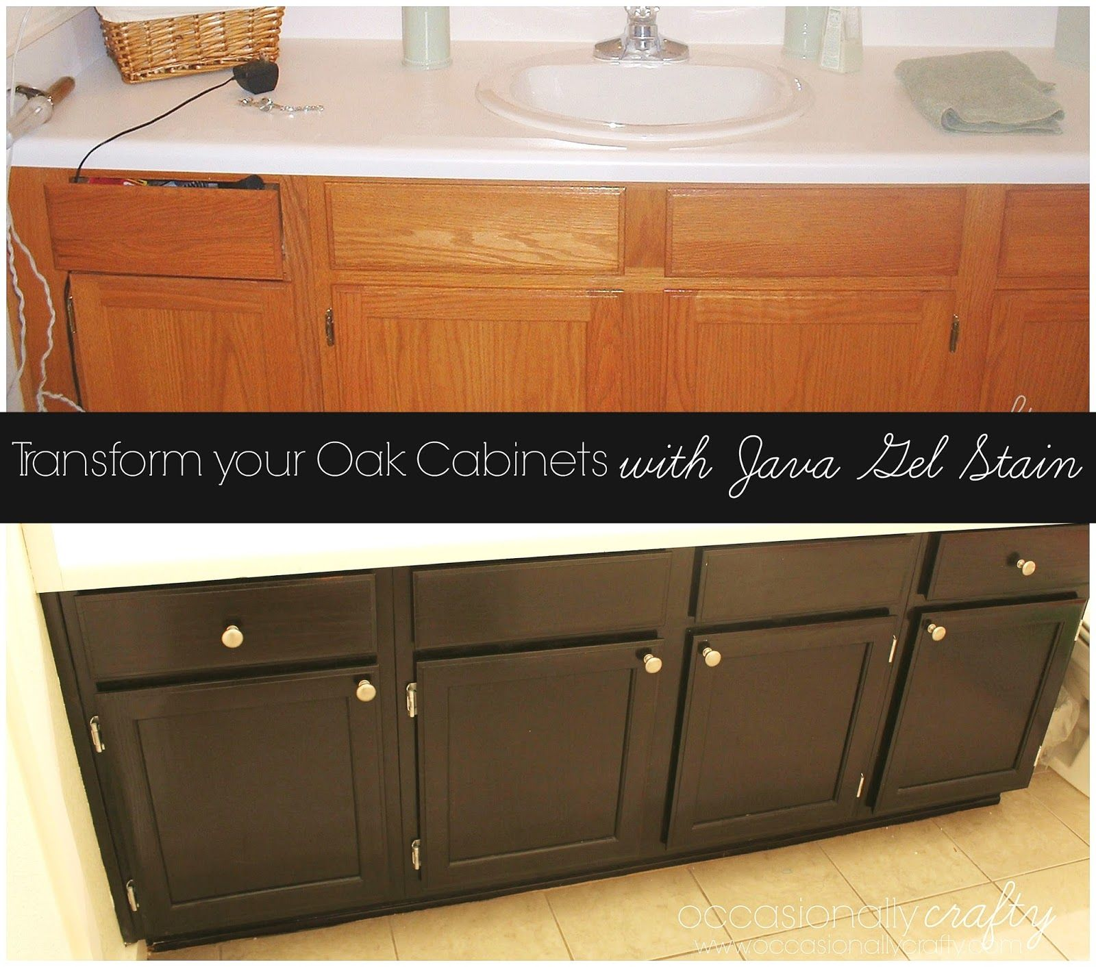 Painting golden oak cabinets - Transform Your Golden Oak Cabinets With Java Gel Stain