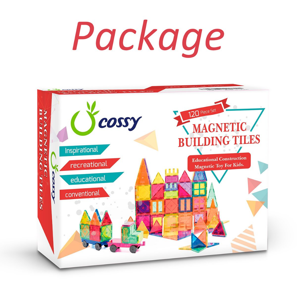 Cossy Kids Magnet Toys Magnet Building Tiles 120 Pcs 3d Magnetic Building Blocks Set Educational Toys For Ki Kids Magnets Educational Toys For Kids Kids Toys