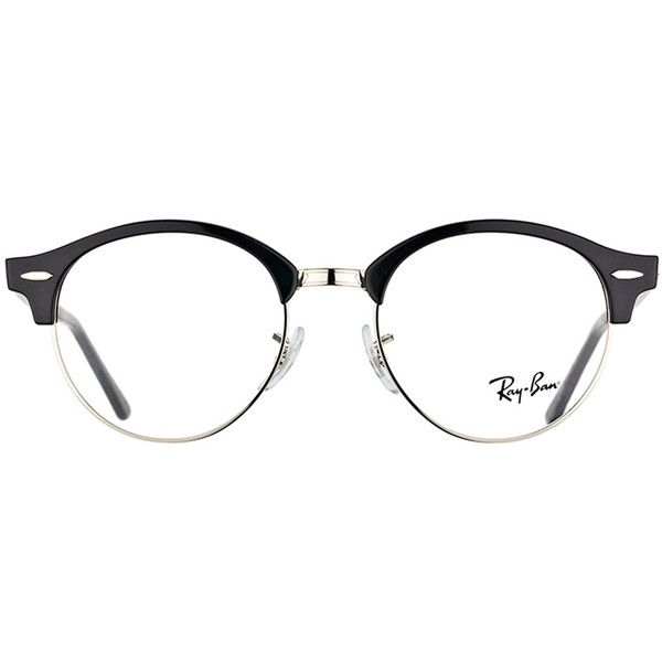aaabbddd0e Ray-Ban Clubround RX 4246V 2000 Shiny Black And Silver Clubmaster... (
