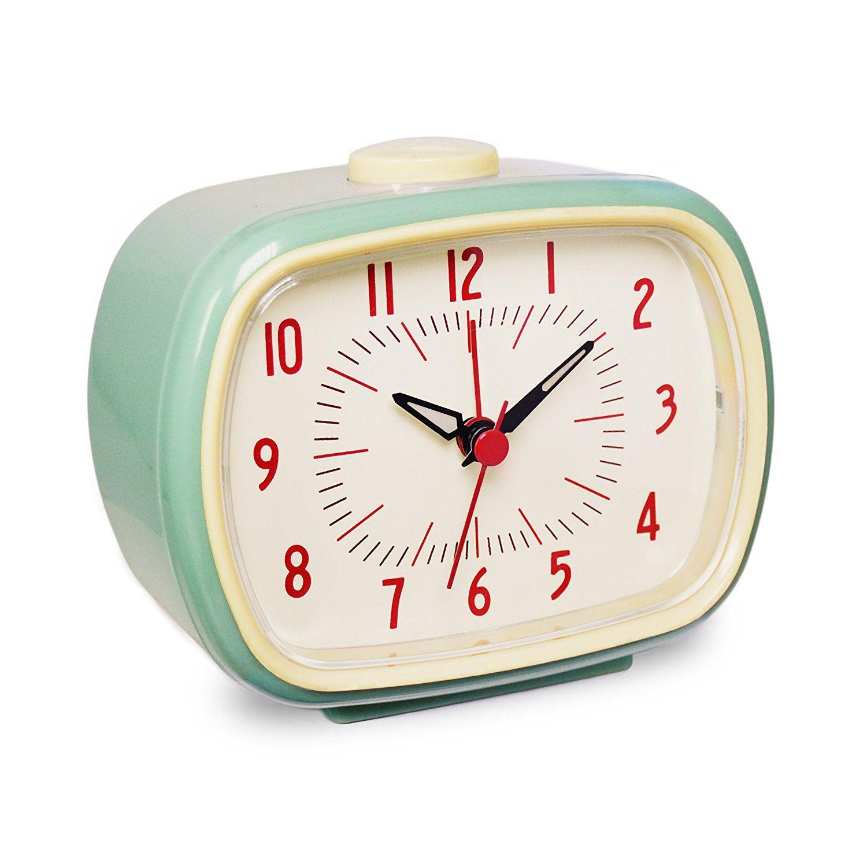 Amazon Com Slash Vintage Retro Old Fashioned Quiet Non Ticking Sweep Second Hand Quartz Analog Desk Clock Vintage Alarm Clocks Retro Alarm Clock Alarm Clock