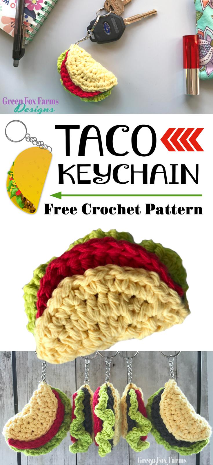 Taco keychain free crochet pattern crochet taco crochet food taco keychain free crochet pattern crochet taco crochet food play food bankloansurffo Choice Image