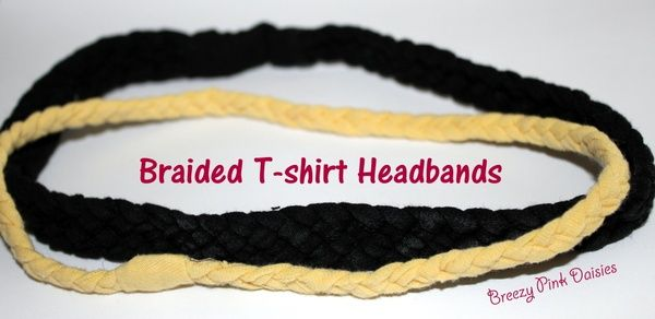 braided t shirt head bands