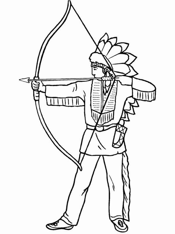 Native American Designs Coloring Pages Native American Native American Is Firing Shortbow Coloring Page Coloring Pages Coloring Books Food Coloring Pages
