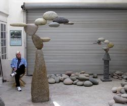 Interesting stone and granite sculptures  by Woods Davy