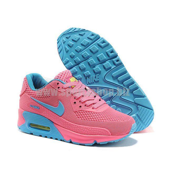 WNS Air Max 90 HYP Premium Pink/Blue | Nike shoes air max ...