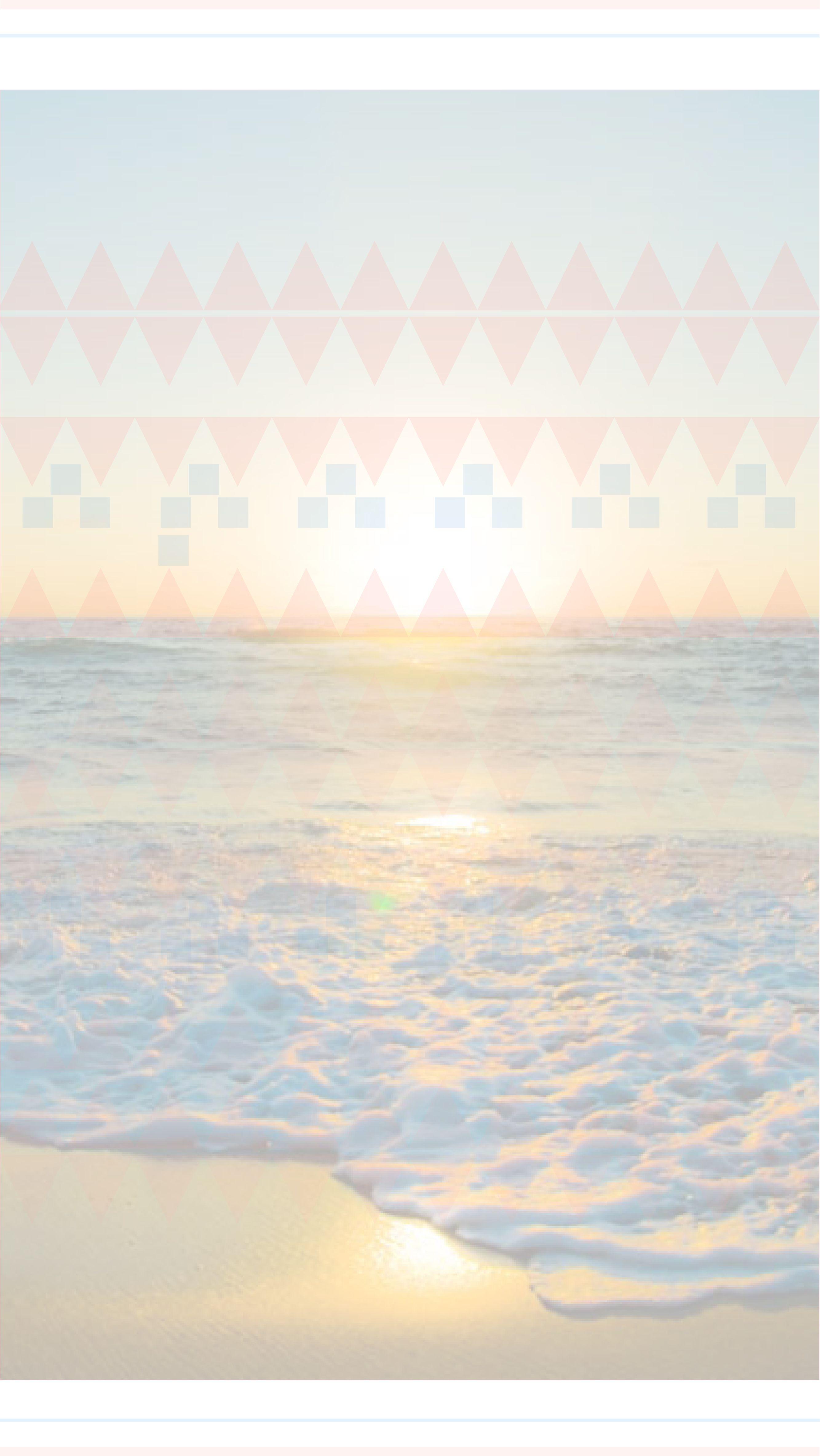 pastel aztec sea beach view ocean sunset iphone phone