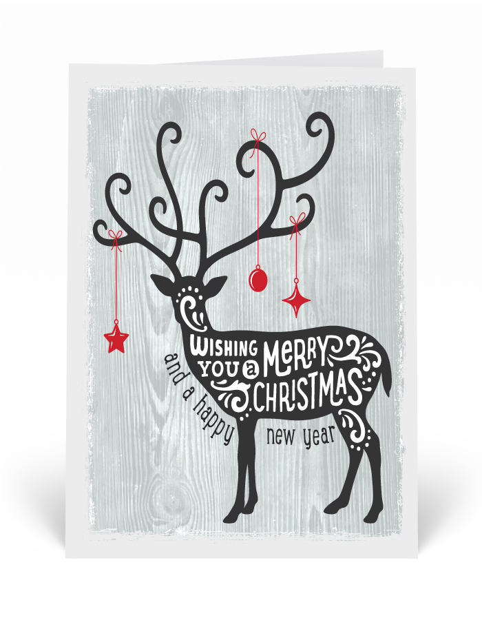 Whimsical Hipster Deer Holiday Cards, Deer holiday cards, Printed ...