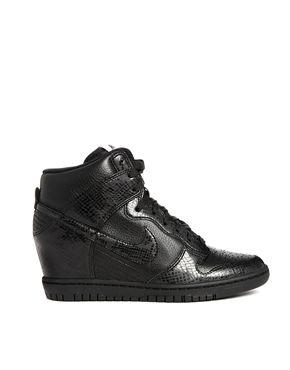 Nike Dunk Sky Hi Black Snake Effect