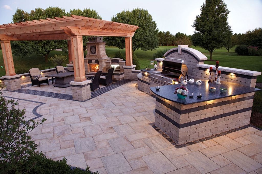 kitchen , incredible outdoor kitchen ideas; extra charming for