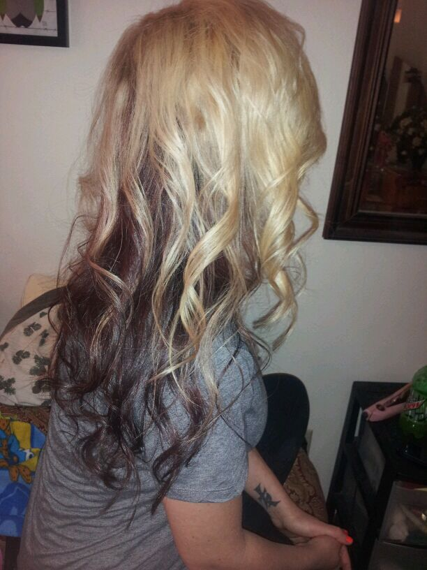 Brown And Blonde Hair With Peekaboo Lowlights Yjxifrd Blonde