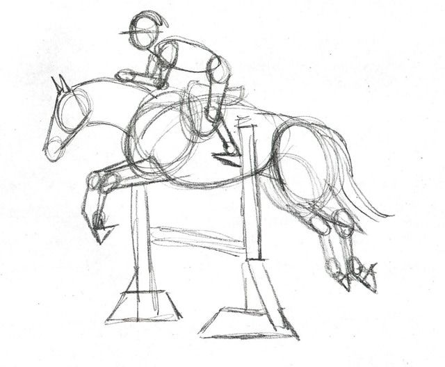 Horses drawings in pencil step by step - photo#41
