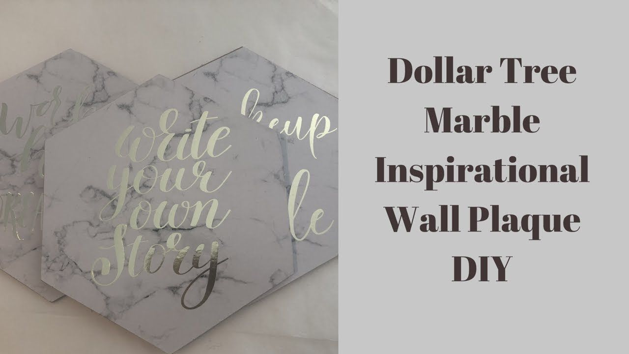 Dollar Tree DIY || 💕 Faux Marble Inspirational Wall ...