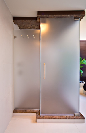 Itching For A Home Update Here S An Easy One Frost Window Or Glass Door For A Luxe Look And More Pr Glass Shower Doors Shower Doors Frosted Glass Shower Door