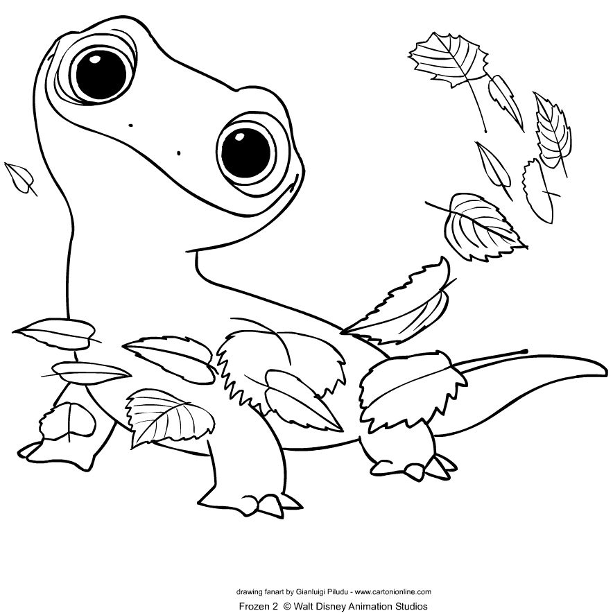 Bruni From Frozen 2 Coloring Page In 2020 With Images