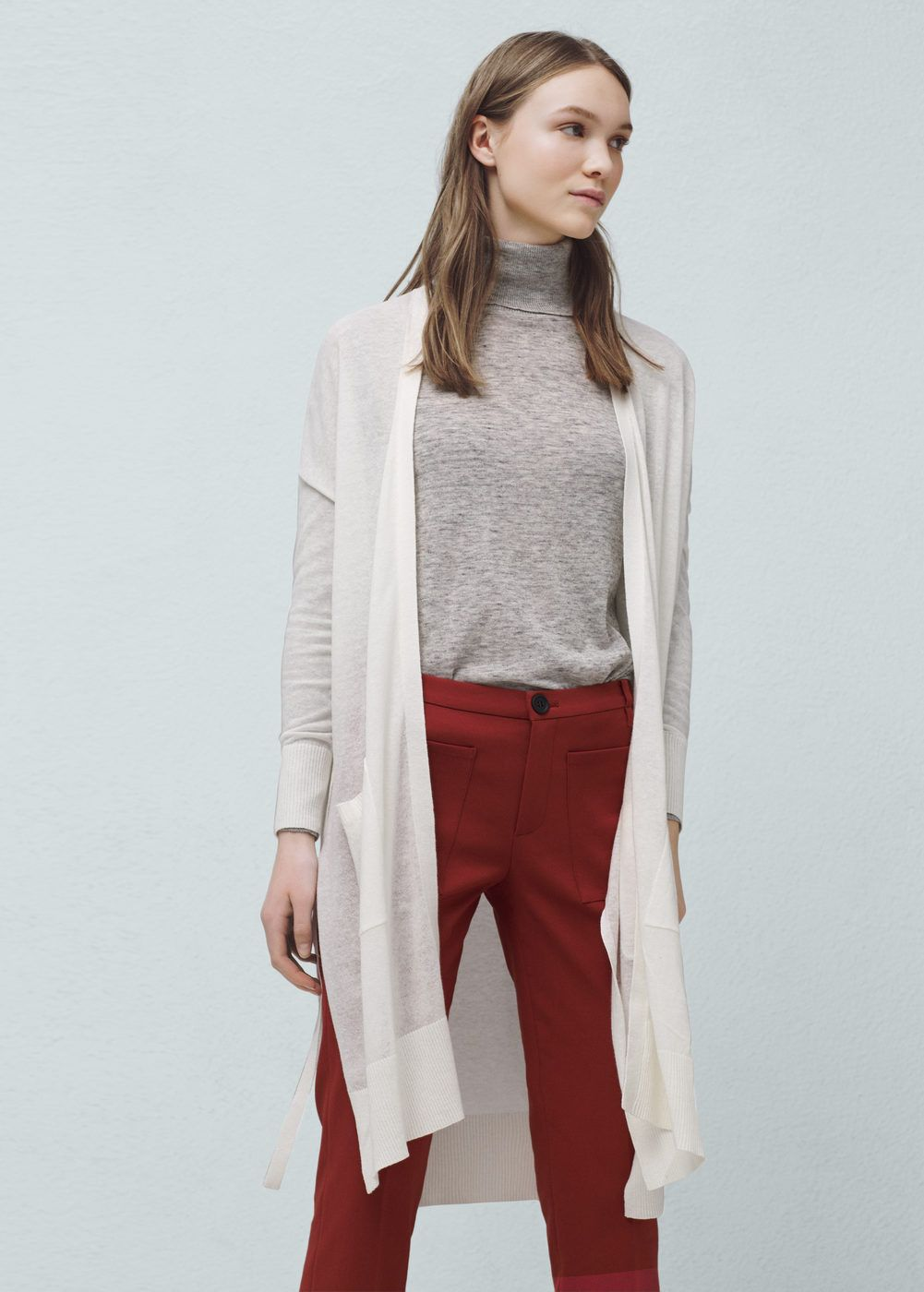 Long cotton cardigan | Cotton and Patches
