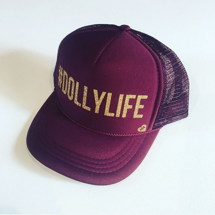 2e243f236f DOLLYLIFE Trucker Hat (Maroon) | Products | Hats, Cute hats