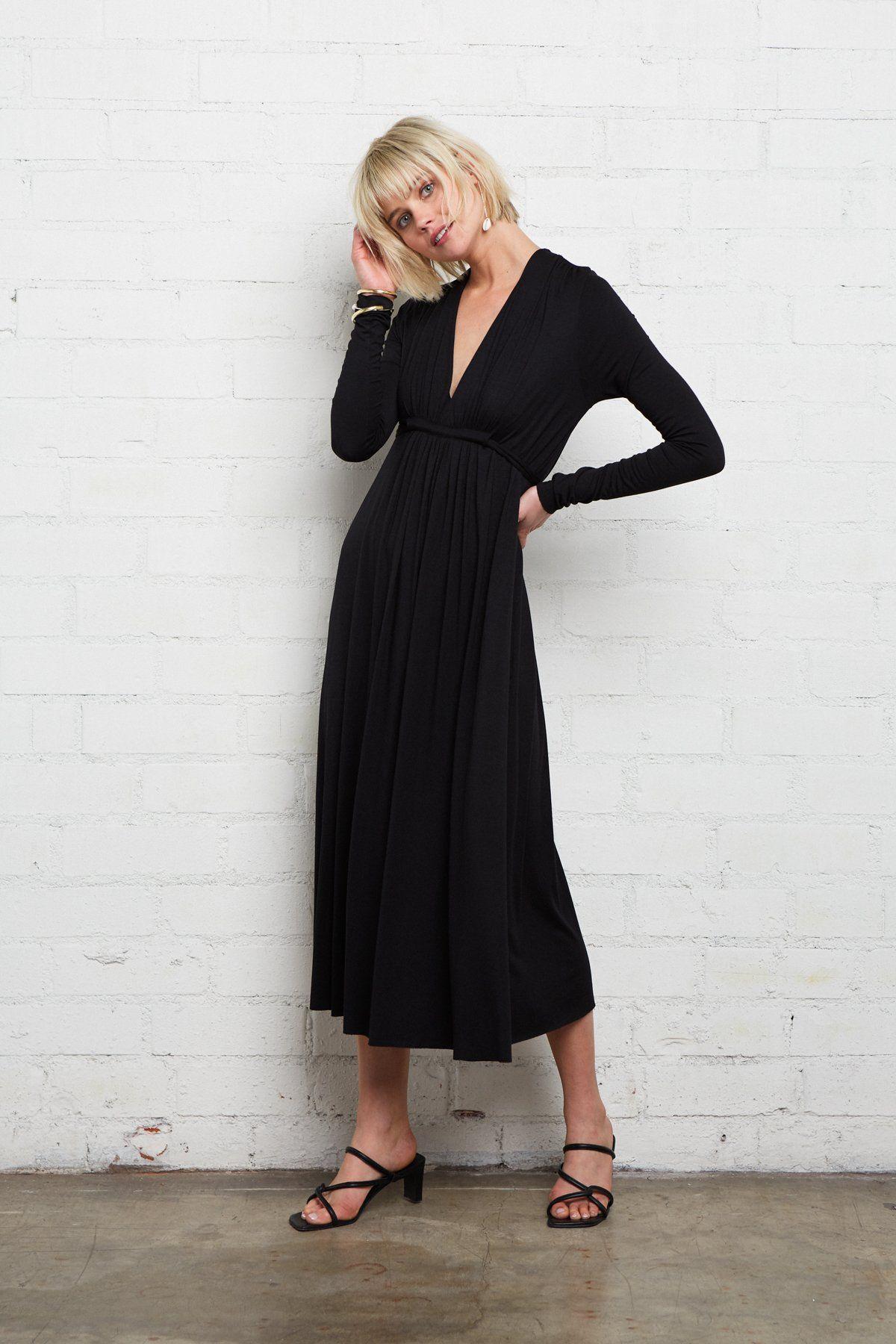 Long Sleeve Mid Length Caftan Versatile Dresses Short Midi Dress Midi Dress Work [ 1800 x 1200 Pixel ]