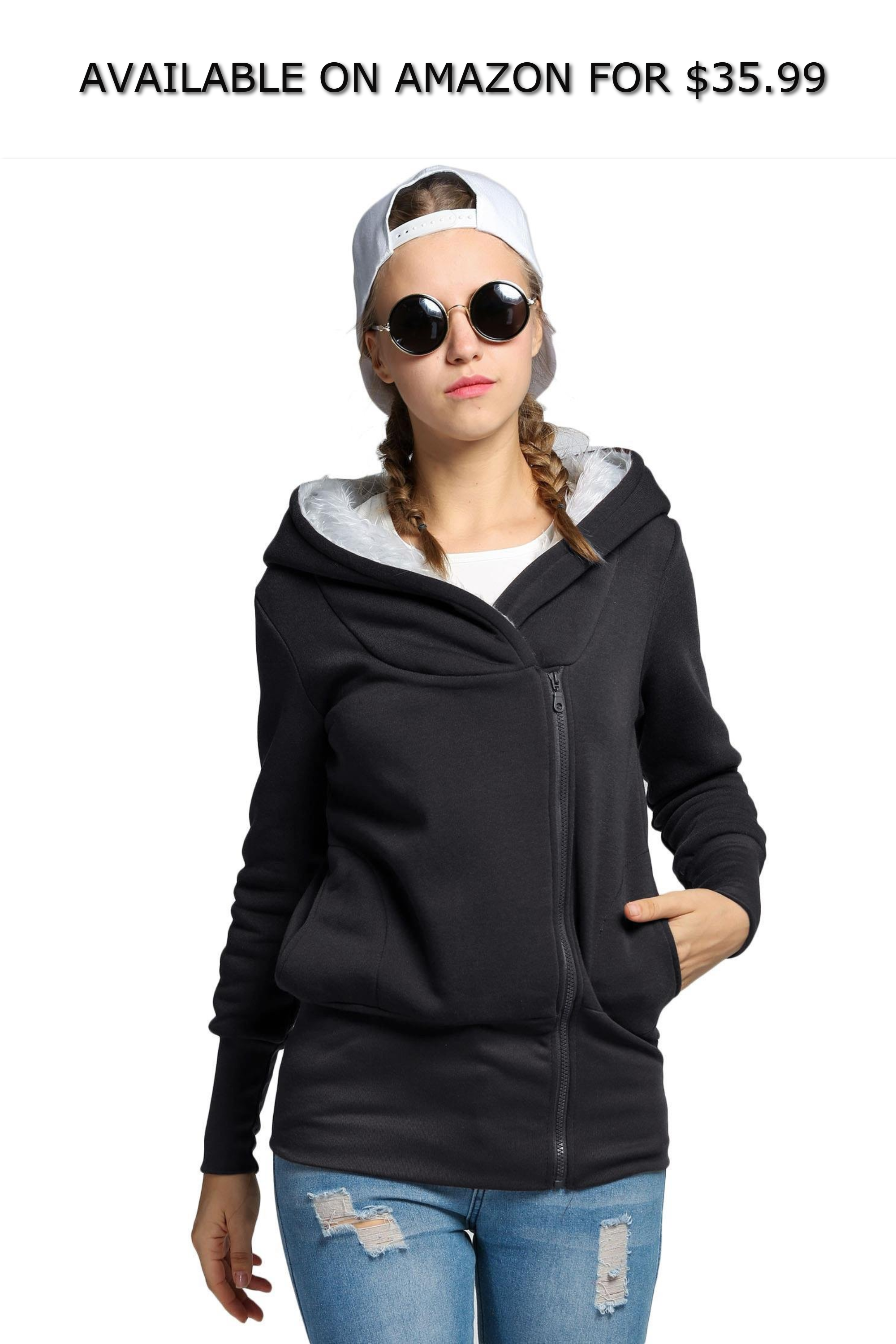 Women Fashion Casual Large Warm Hood Long Sleeve Solid Pullover Hoodies ◇  AVAILABLE ON AMAZON FOR   35.99 ◇ Material-- Made of durable fabric 46df6cca58