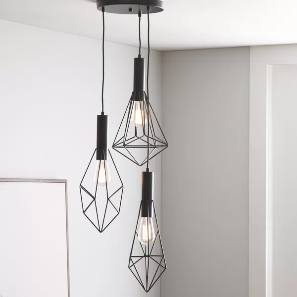 Harmen 3 Light Cluster Geometric Pendant In 2020 Geometric Pendant Light Cluster Pendant Lighting Pendant Lighting Bedroom