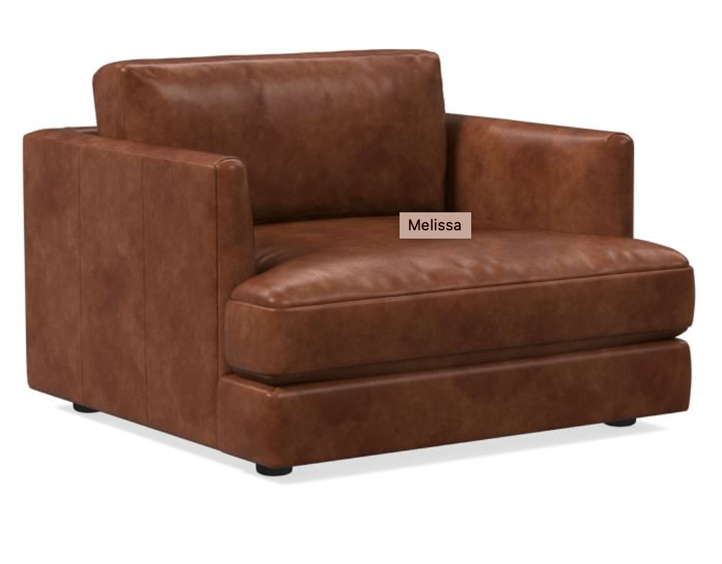Haven Leather Chair and a Half in 2020 Chair and a half