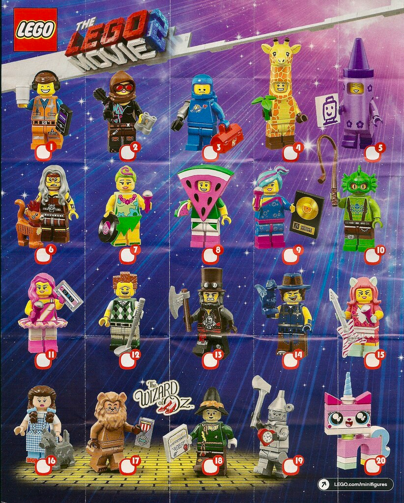 Lego Minifigures The Lego Movie 2 Series 71023 In 2020 Lego Movie Lego Movie 2 Lego