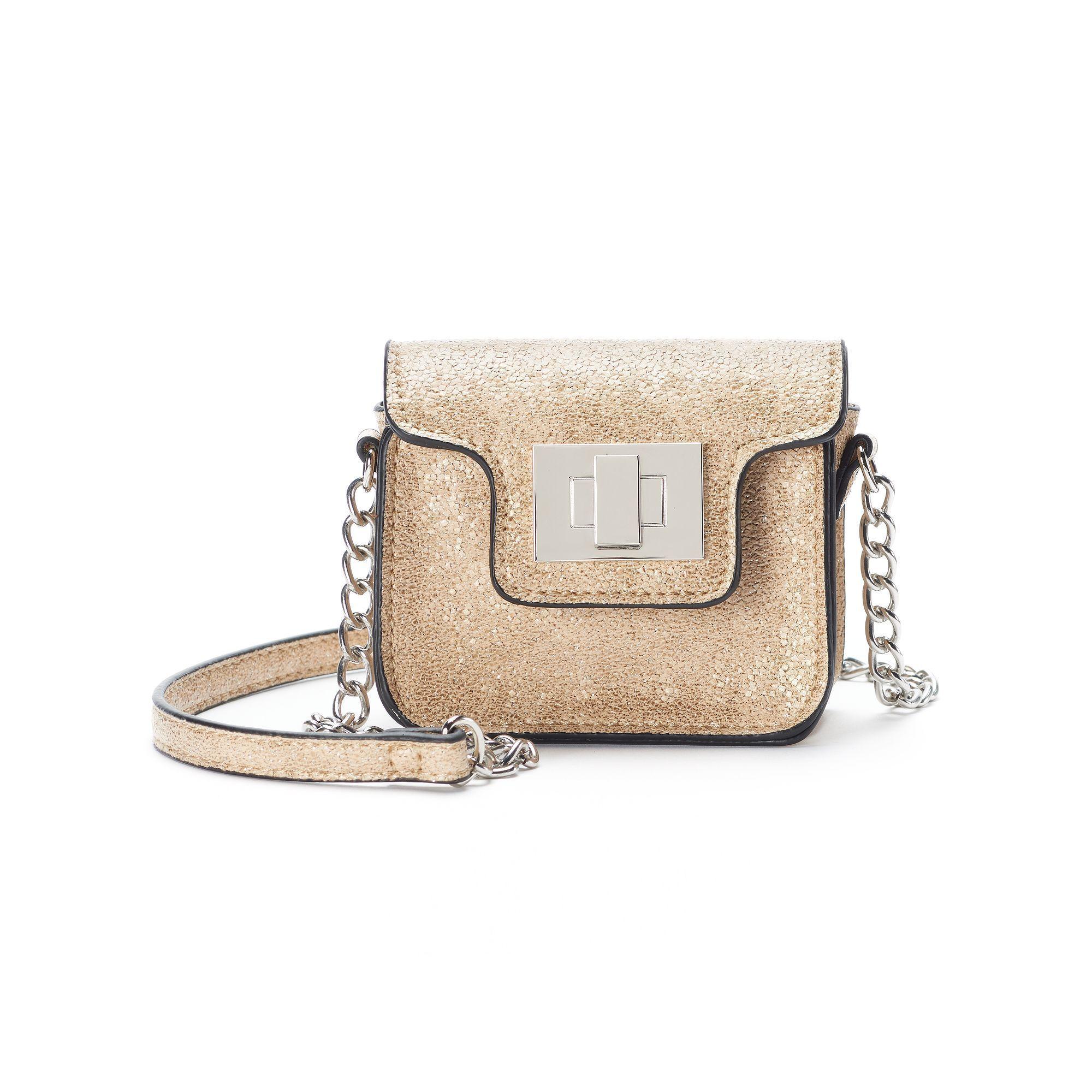 SO® Glittery Mini Crossbody Bag, Women's, Gold