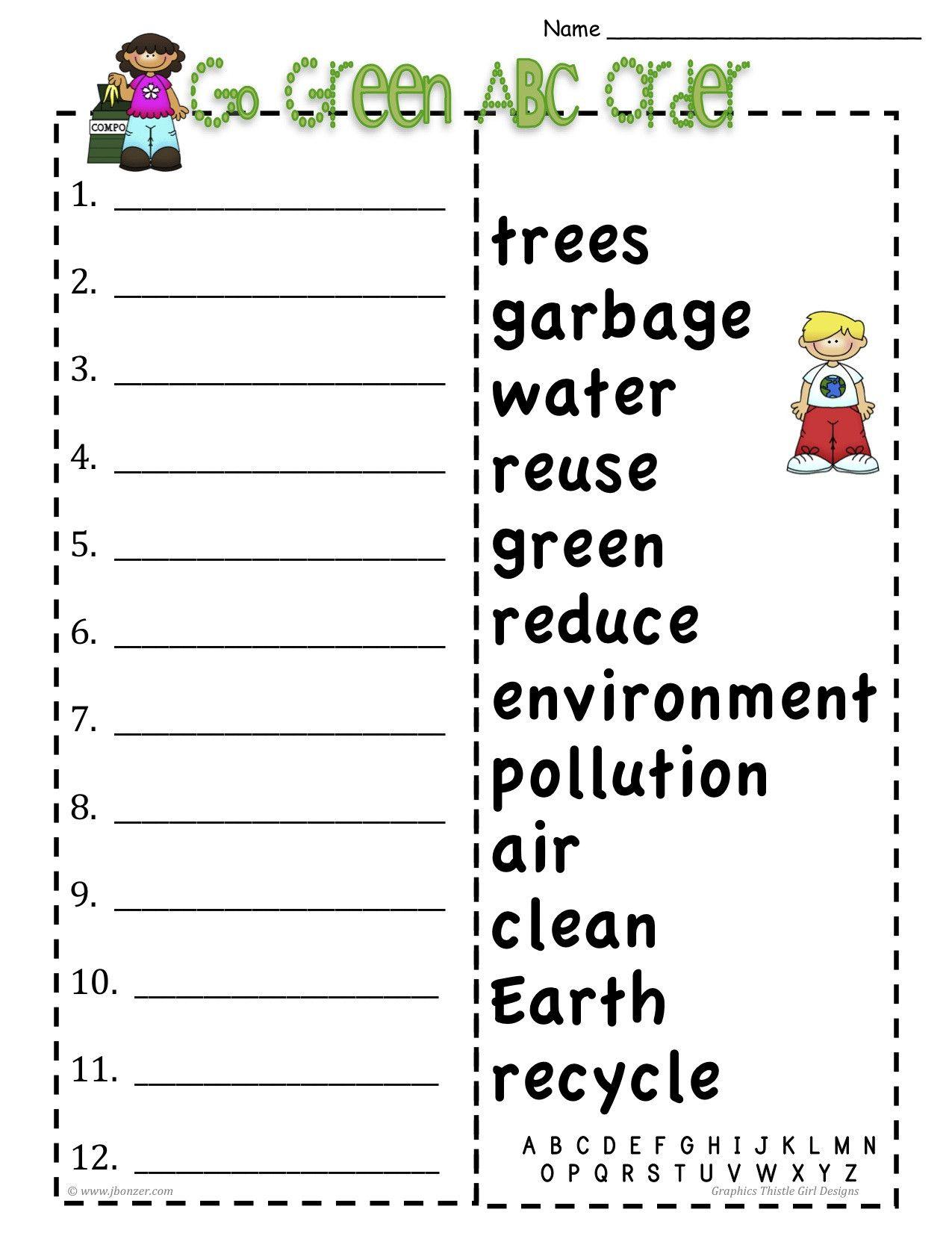 Free Printable Alphabetical Order Worksheets In