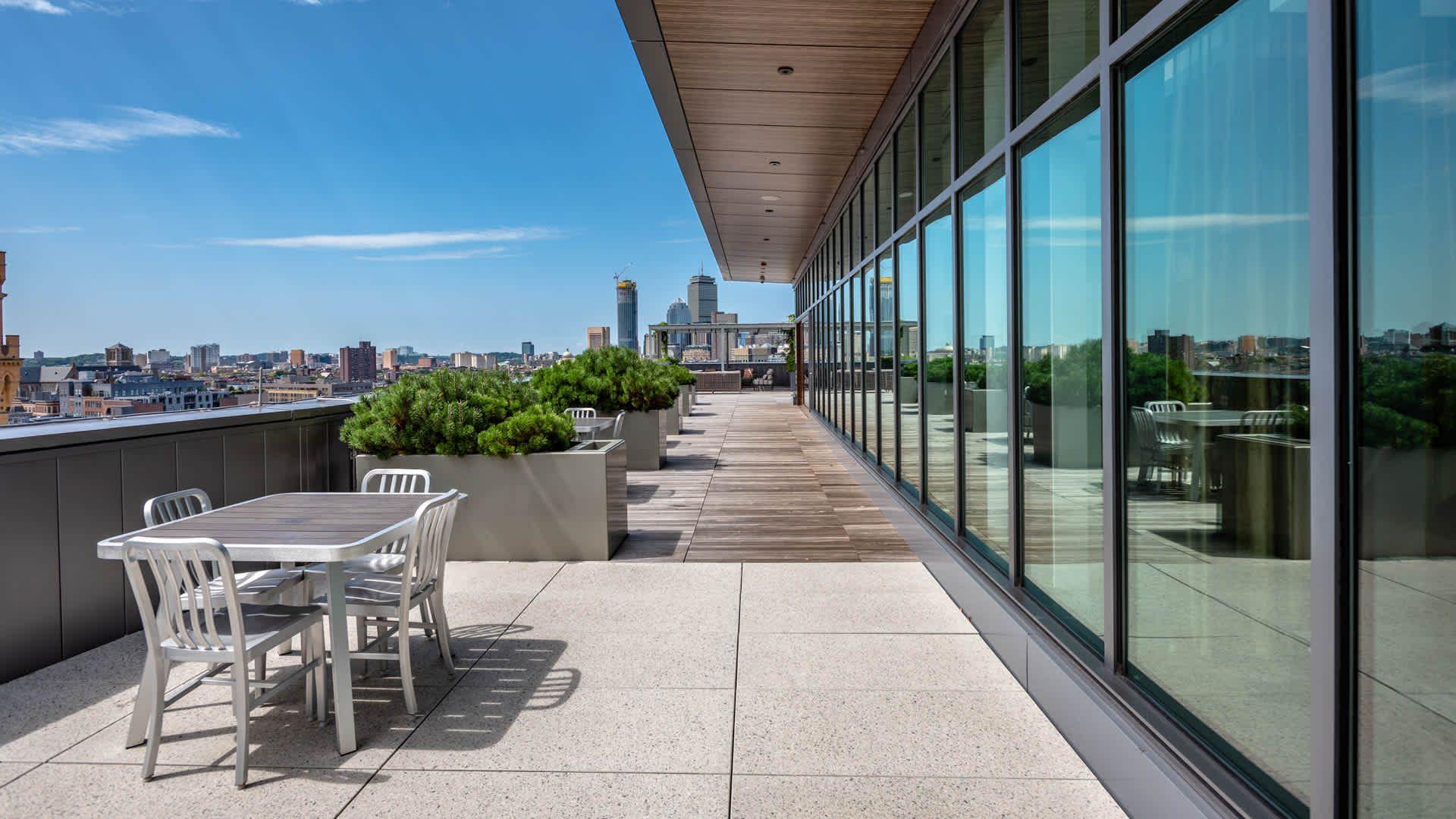 Troy Boston Apartments Rooftop Terrace Boston Apartment Apartment Rooftop Apartment