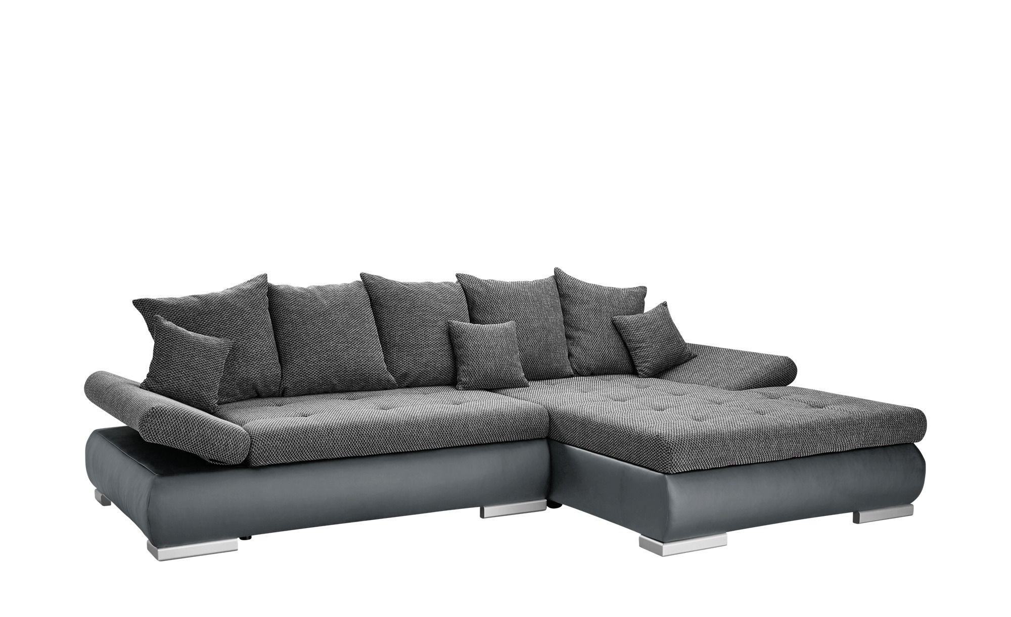 Switch Eckcouch Grau Schwarz Kunstleder Webstoff Ivan Eckcouch Eckcouch Mit Schlaffunktion Und Couch