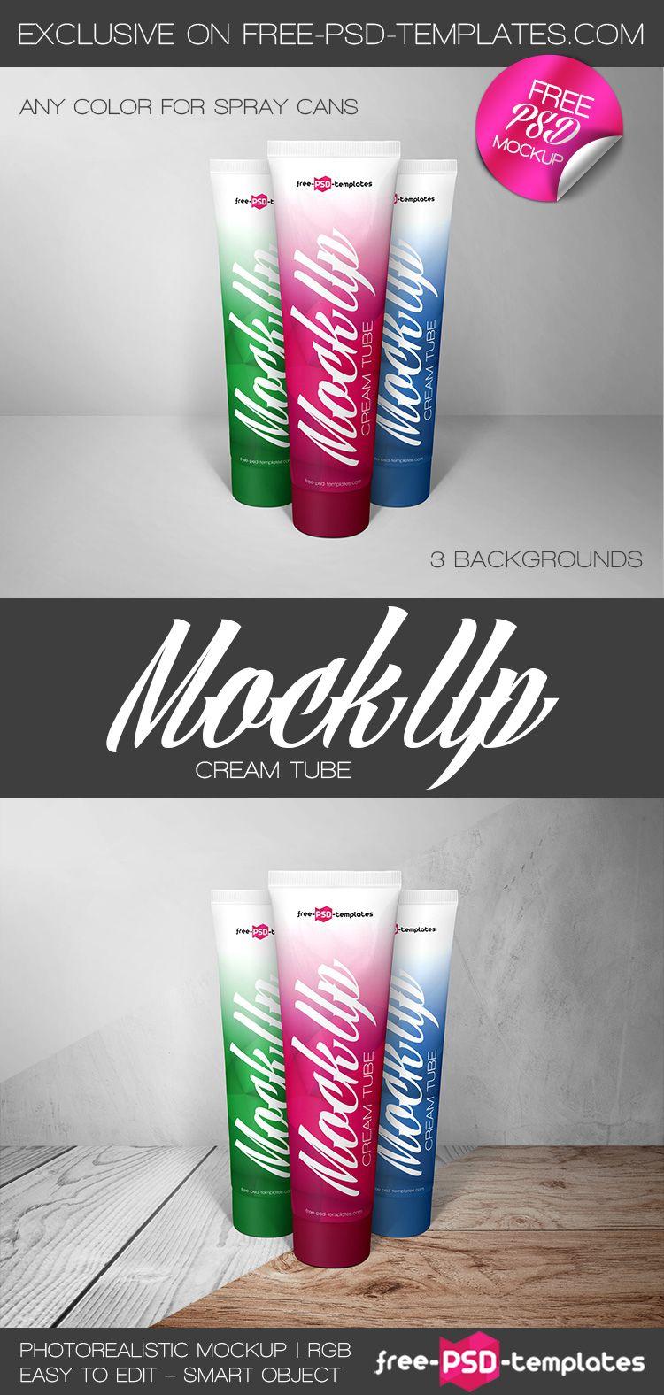 Free Cream Tube Mockup   free-psd-templates.com   #free #photoshop ...