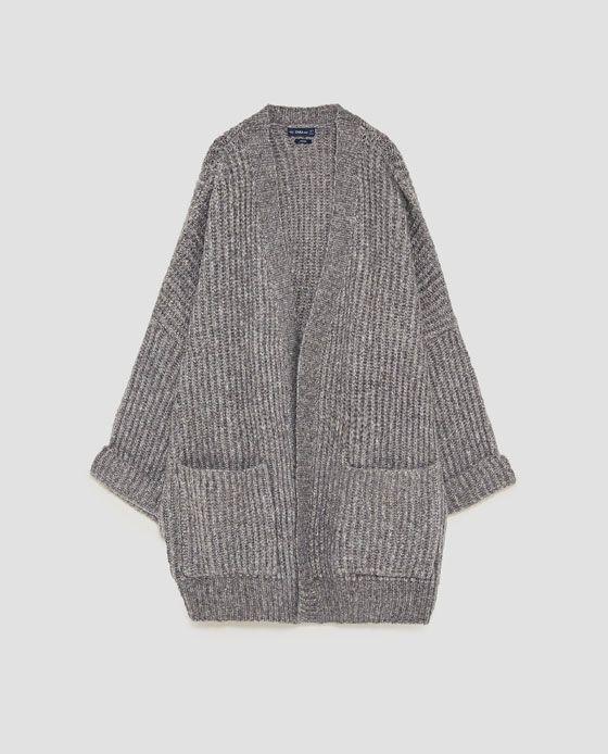 Image 8 of OVERSIZED WOOL CARDIGAN from Zara | Woolen tops