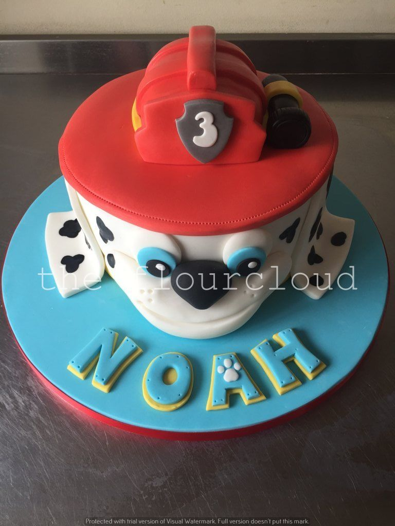Marshall from Paw Patrol birthday cake Childrens Cakes