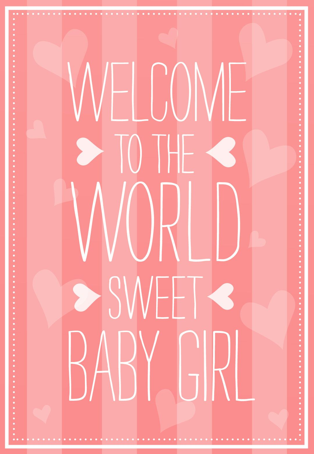 Welcome To The World Free Baby Shower New Baby Card Greetings Island New Baby Cards Welcome Baby Girl Quotes Congratulations Baby