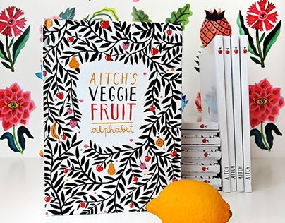 My book is a playful approach on the traditional alphabet book. Each letter features a fruit or vegetable, depicted as a morph between the fruit's or veggie's shape and the female body, a beautiful tribute to natural diversity. Each character has a compan…