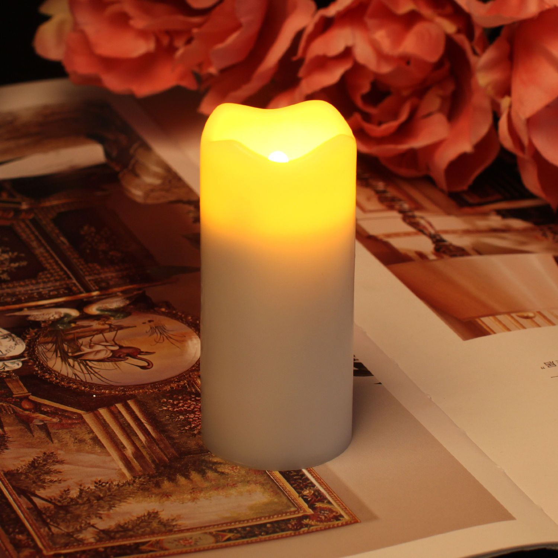 3-Orange Glitter Halloween Tornado Candle