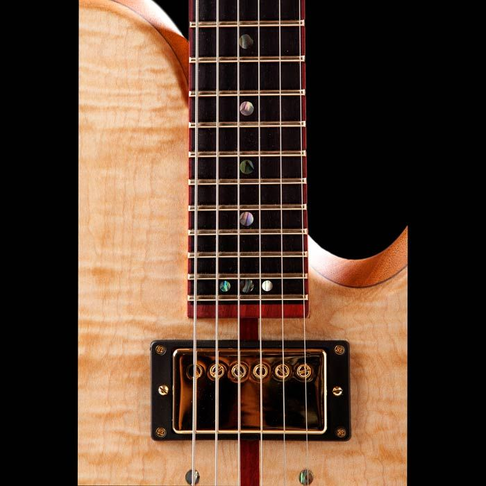 Abalone Inlays In A Bois De Rose Fretboard With Jescar Frets Custom Guitar Inlay Guitar