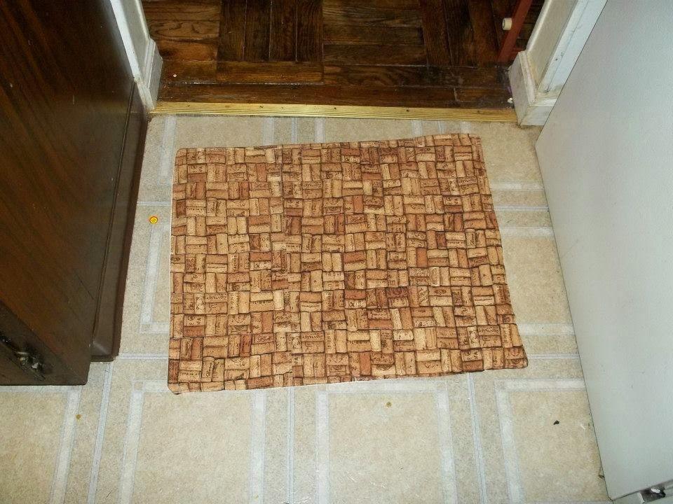 Diy washable doggie pee pee pad doggie door mat