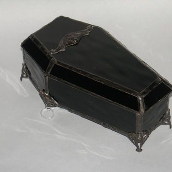 Coffin Stained Glass Jewelry Box Stained Glass Pinterest Glass
