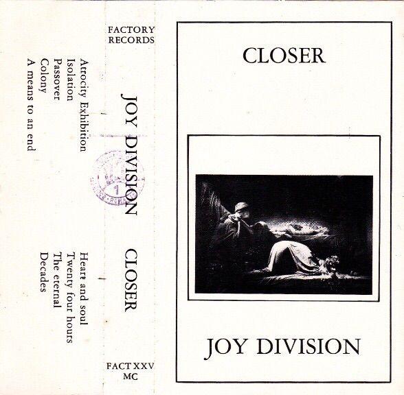 Joy Division Closer Cassette Album Design Joy Division