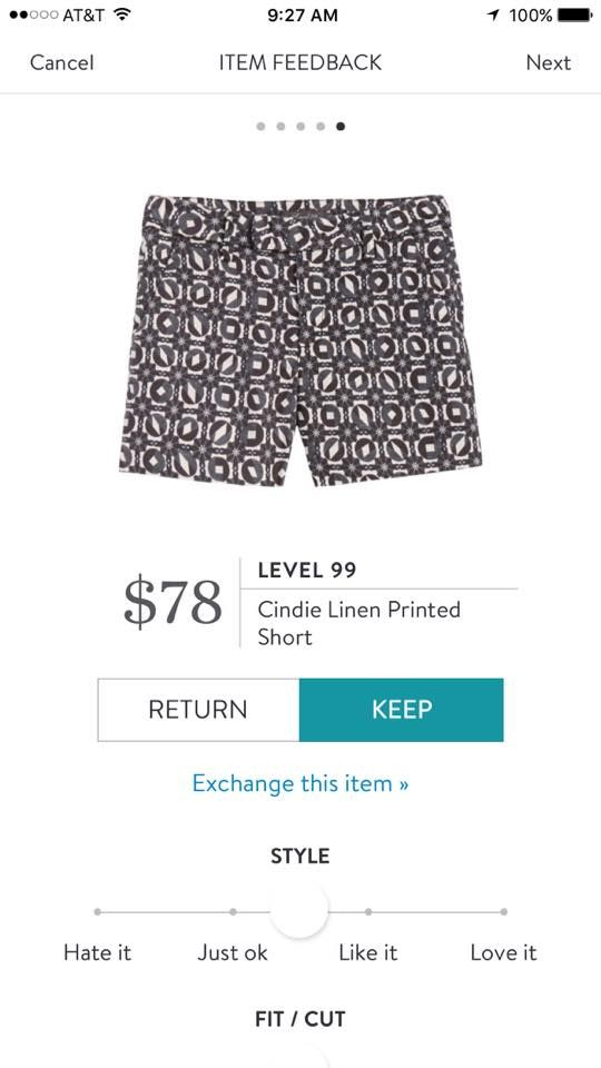Level 99 Cindie Linen Printed Short. I love Stitch Fix! A personalized styling service and it's amazing!! Simply fill out a style profile with sizing and preferences. Then your very own stylist selects 5 pieces to send to you to try out at home. Keep what you love and return what you don't. Only a $20 fee which is also applied to anything you keep. Plus, if you keep all 5 pieces you get 25% off! Free shipping both ways. Schedule your first fix using the link below! #stitchfix @stitchfix…