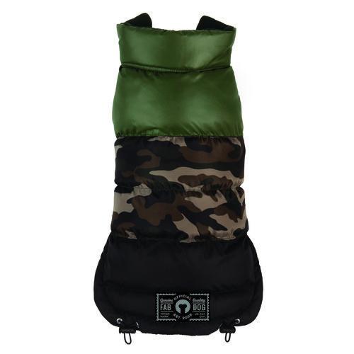 Camo Colorblock Dog Puffer Coat, Camouflage Dog Coat - available at fabdog.com - #dogfashion #dogclothes
