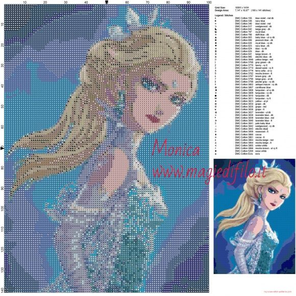 Disney//Film//Childrens Elsa-Frozen The Movie Counted Cross Stitch Kit
